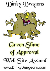 Green Slime of Approval Web Site Award